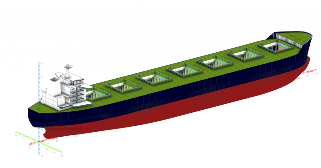 Bulk carrier model in NAPA Designer