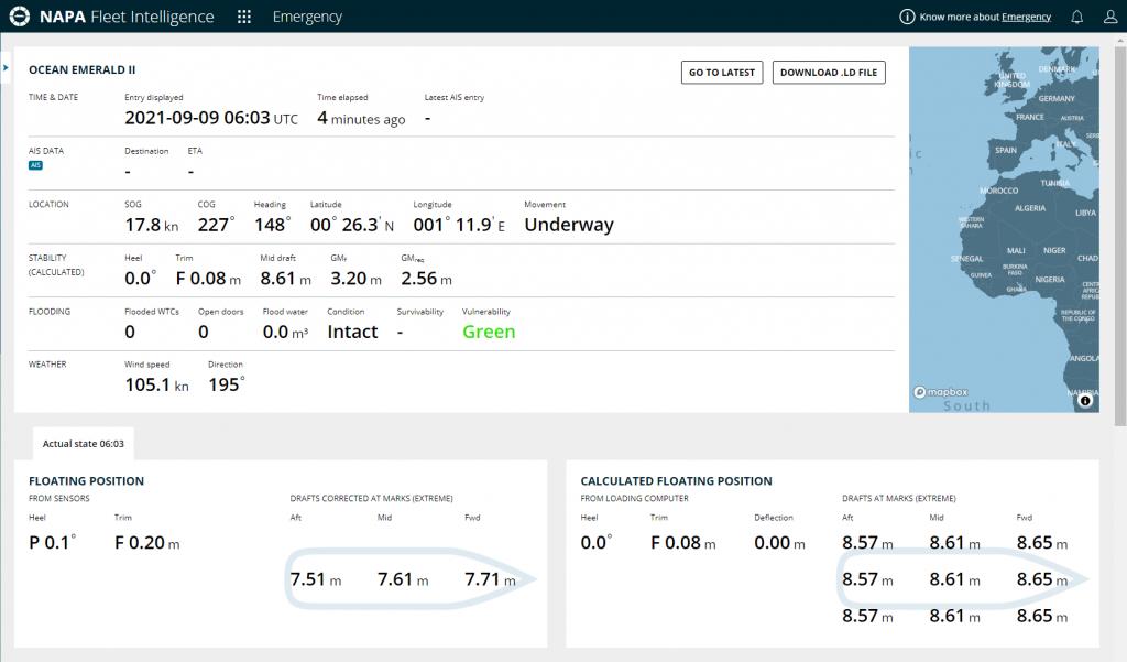 NAPA Fleet Intelligence cloud-based platform enables real-time data-sharing between ship and shore